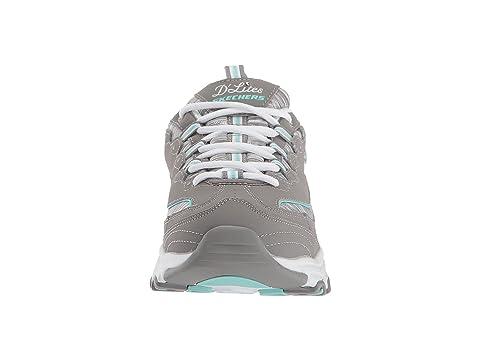 SKECHERS D'Lites Interlude Gray Interlude Mint SKECHERS SKECHERS Mint D'Lites Interlude Gray D'Lites Gray f8wWZ