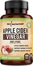 Key Nutrition Apple Cider Vinegar Capsules, 1500MG Extra Strength Pills | 100% Pure, Organic, Raw | Supports Healthy Digestion, Detox, Blood Sugar | 60D Supply