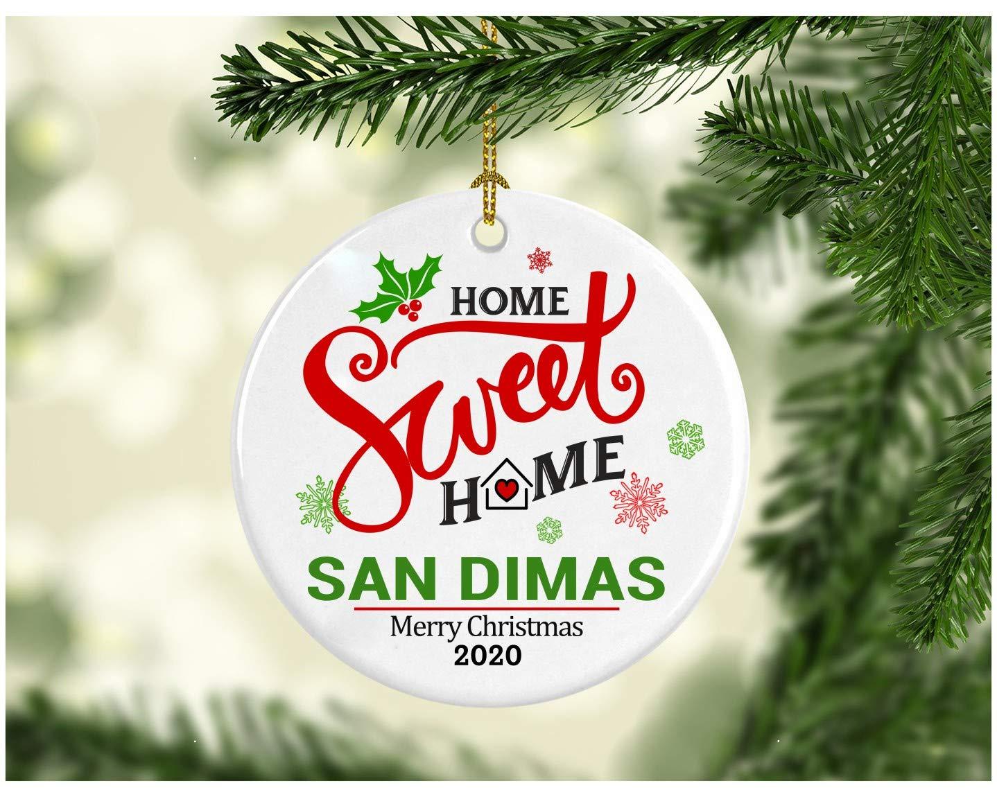 Xmas Christmas Ormament 2020 Wjit House Amazon.com: Christmas Decoration Tree Ornament State   Home Sweet