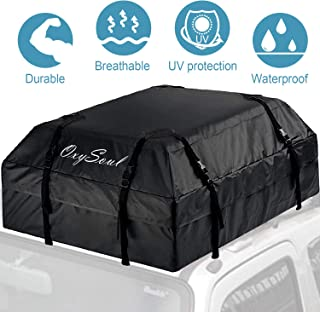OxySoul Cargo Roof Bags for Car Top Carrier Bag - 15 Cubic Feet Waterproof Heavy Duty Truck Storage Bags,Fits All Cars with or Without Rack