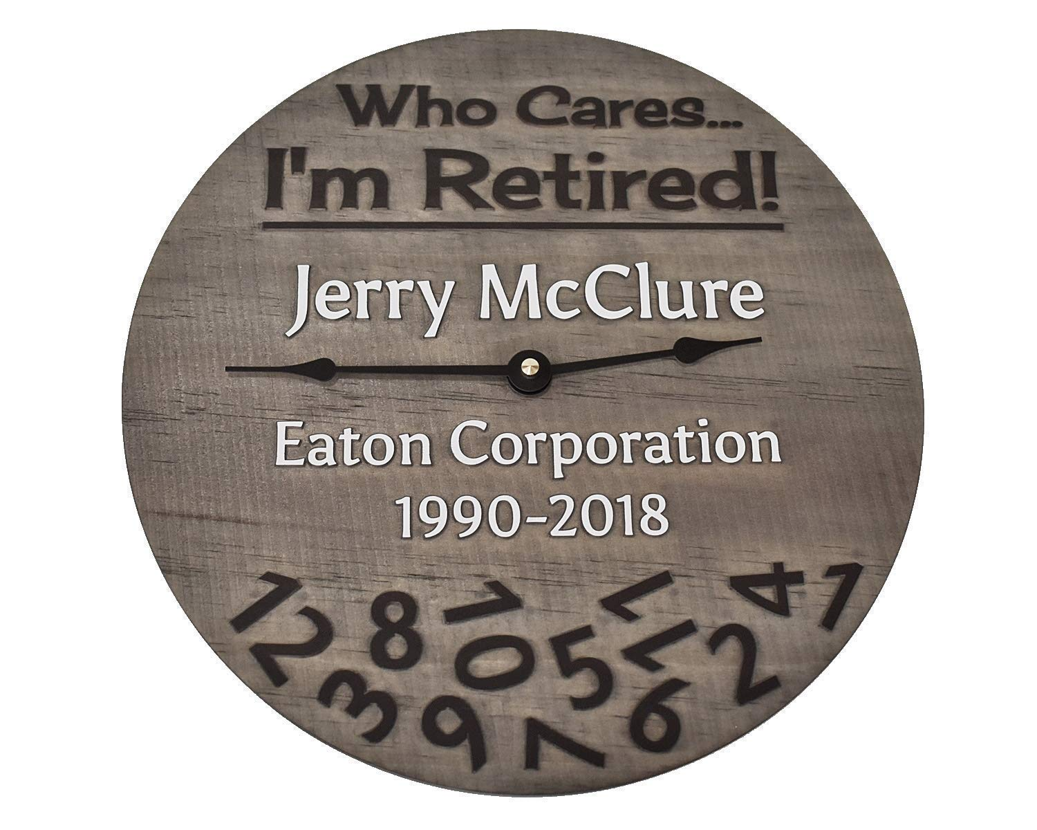 11 Inch Personalized Retirement Handmade from Special price for a limited We OFFer at cheap prices time Clock Wood