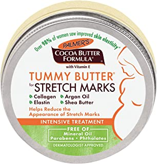 Palmer's Cocoa Butter Formula Tummy Butter Balm for Stretch Marks & Pregnancy Skin Care | 4.4 Ounces (Pack of 3)