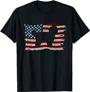 American Flag Shih Tzu Dog Lover Gift 4th of July Shirt Men