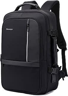 Xnuoyo 17.3 Inch Anti-Theft Convertible Laptop Backpack Briefcase, 8cm Expandable TSA Friendly School Rucksack