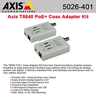 AXIS 5026-401 T8640 Ethernet Over Coax Adaptor PoE+ - media converter