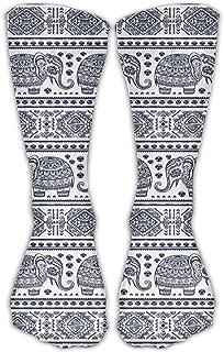 Personalized Elephant Decorative Design Unisex Short Socks Casual Athletic Outdoor Socks Novelty Socks 30cm