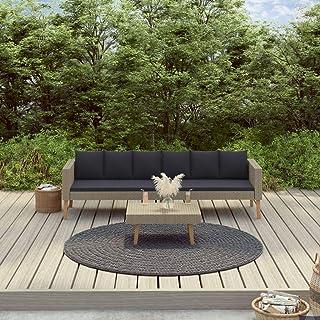 FAMIROSA Set de Muebles de jardín 2 pzas y Cojines ratán sintético Beige (30kg)-9329