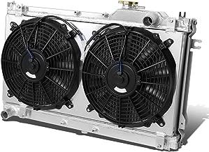 For Mazda Miata MX-5 Aluminum Dual Core 2-Row Bolt-on Cooling Radiator W/Fan Shroud - 1st gen NA