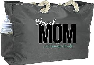 KEHO Ultimate Waterproof Mom Diaper Bag (Huge) Perfect Baby Shower Gift Comfy Handle Pockets … (Grey)
