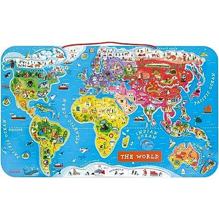JANOD パズルワールドマップ 正規品 箱入り