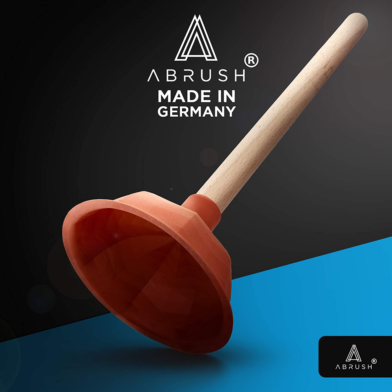 made in Germany Abrush Plunger for toilet 140 mm drain cleaner shower and kitchen rubber plunger drain cleaner universal suction cup for any drain