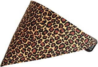 Mirage Pet Products Leopard Print Bandana Pet Collar, Black, Size 16