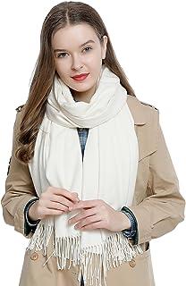 c58591ff3f35b DonDon Grande écharpe d'hiver femme 185 x 65 cm uni doux et chaud