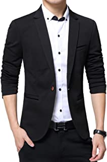Men's Blazer Slim Fit Casual Lightweight Sports Coats Jackets One Button