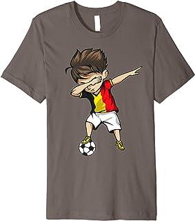 Dabbing Soccer Boy Belgium Jersey Shirt - Belgian Football
