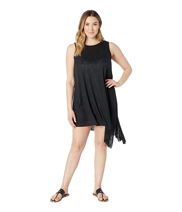 BECCA by Rebecca Virtue Plus Size Keyhole Dress Cover-Up (Black) Women