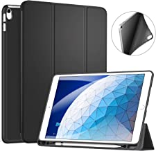 Ztotop Case for iPad Air 3 10.5 2019 & iPad Pro 10.5 2017 with Pencil Holder, Ultra Slim Soft TPU Back and Trifold Stand Cover with Auto Sleep/Wake Full Body Protective Smart Case-Black