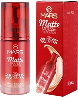 MARS Adbeni Matte Mousse Foundation-F06-101 with Kajal, Skin Whitening Cream, Ivory, 60 ml