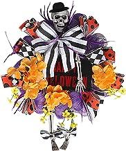 Colcolo Decoração de suspensão de porta de coroa de Halloween, coroa de Halloween Chapéu de perna de outono Festival da co...