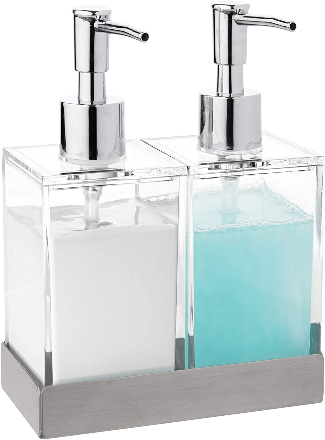 Modern Innovations Acrylic Twin Liquid Soap and service Dispenser Lotion 2021 spring summer new