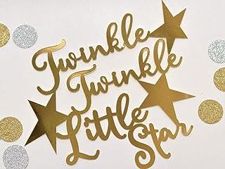 DKISEE Tarta con purpurina brillante con diseño de estrella pequeña, decoración de fiesta de primer cumpleaños, decoración...