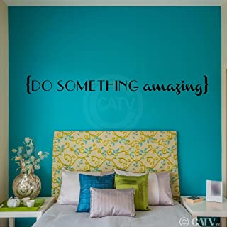 Do Something Amazing Vinyl Lettering Wall Decal Sticker (5.5