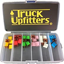 Truck Upfitters 30 pc Automotive LOW PROFILE JCASE Box Shaped Fuse Kit for Ford, Chevy/GM, Nissan, and Toyota Pickup Trucks, Cars and SUVs