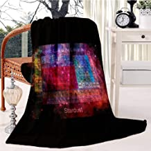 Soft Flannel Blanket & Throws for Couch or Bed Stardust Periodic Table Swaddle Blanket Sleep Mat Multipurpose Blanket Dorm Bedroom Essential Bedding