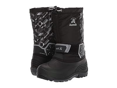 Kamik Kids Icetrack P (Toddler/Little Kid/Big Kid) (Black/Charcoal) Boys Shoes