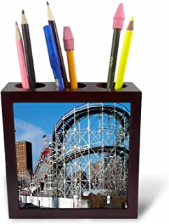 3dRose LLC ph_1192_1 Coney Island Roller Coaster Tile Pen Holder, 5-Inch
