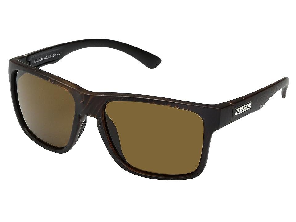 SunCloud Polarized Optics Rambler (Blackened Tortoise/Polarized Brown Polycarbonate Lens) Sport Sunglasses