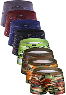 YOULEHE Men's Underwear Soft Bamboo Boxer Briefs Stretch Trunks Pack