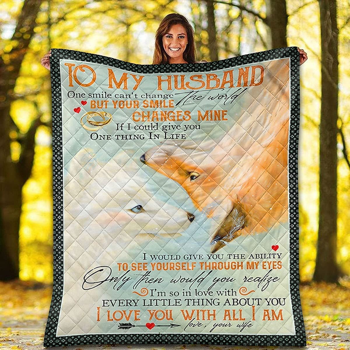 Fox Quantity limited Couple Ring Quilt - to My You with Al Love I Husband Max 87% OFF