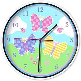 Wildkin Wall Clock, Butterfly Garden