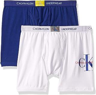 Calvin Klein Boy's Modern Cotton Assorted Boxer Briefs Underwear, Multipack - Multi - X-Large
