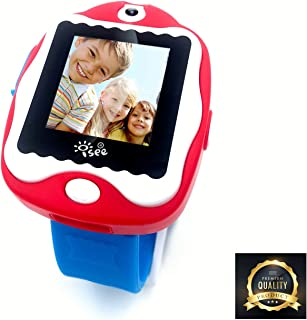 ISEE Game Watch, Durable Kids smartwatch, Digital Camera Games, Wrist Watch Clock Alarm Touch Screen Watches for Boys Girls (Red, Blue)