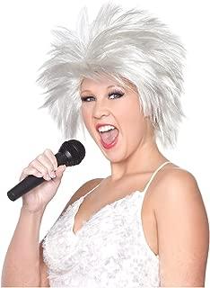 Groupie Wig 80/'s Rock Star Tina Turner Fancy Dress Halloween Costume Accessory