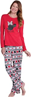 PajamaGram Fun Womens Christmas Pajamas - Disney Pajamas Women, Red