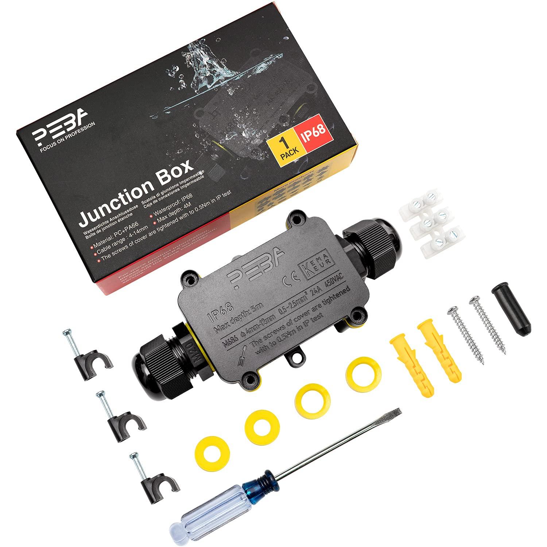 PEBA Waterproof IP68 security External Junction Box 2021 2 M20 Line Plug Way
