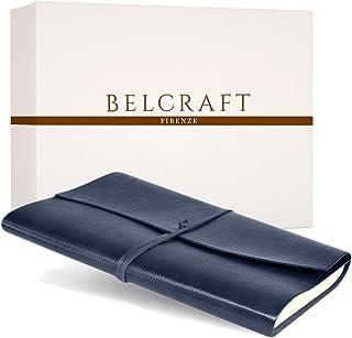 Tivoli A4 Diario in Pelle riciclata, Realizzato a mano da Artigiani Toscani, Include Scatola Regalo, A4 (21x30 cm) Blu
