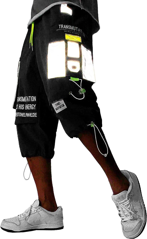 MOKEWEN Men's Max 50% OFF Drawstring Techwear Shorts Free shipping anywhere in the nation Streetwear Cargo Jogger