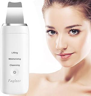 Limpiador facial ultrasonico, Fayleer Peeling Ultrasónico Facial Skin Scrubber de limpieza de la piel facial Eliminación de la espinilla Máquina de depuración de la pala