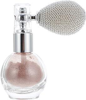 Lurrose Glitter Powder Spray Women Makeup Body Hair Highlighter Sprayer Sparkle Shimmer Powder Makeup Body Dust Glitter Pink