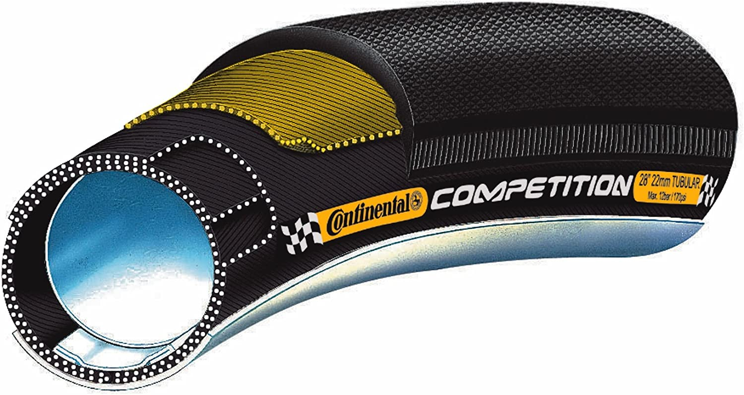 """Continental Competition 28/"""" x 22 mm 27 x 1 Road Bike Tubular Tire In Box 1 Tire"""