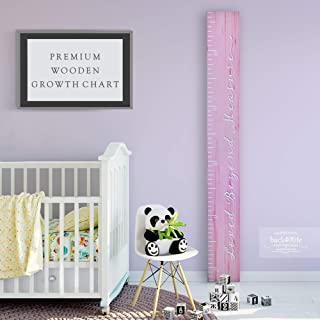 Back40Life Wooden Kids Growth Chart Ruler for Boys and...