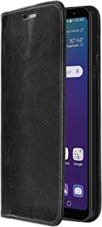 ZIZO Wallet Folio LG K40 Case   Magnetic Flap Closure with Credit Card and ID Holder LG Harmony 3 (Black Leather)