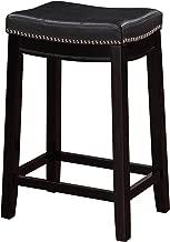 Linon Claridge Counter Stool, Black, 26