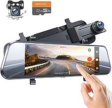 APEMAN 7 Zoll IPS Touchscreen, Spiegel Dashcam mit 1080p (Full HD) wasserdichte..