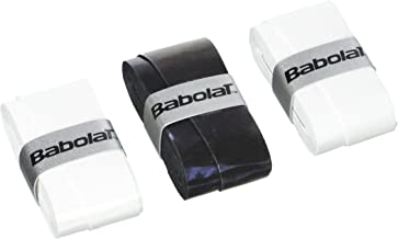 BABOLAT-653045 Unisex Adult My Overgrip X3 - Black/White, Pack Of 3