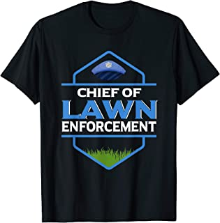 Funny Lawn Enforcement Officer Tshirt Grass Mowing Tee Men